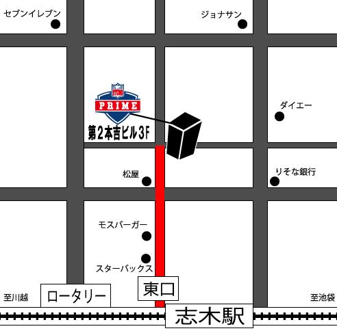 スタジオプライム マップ(地図)